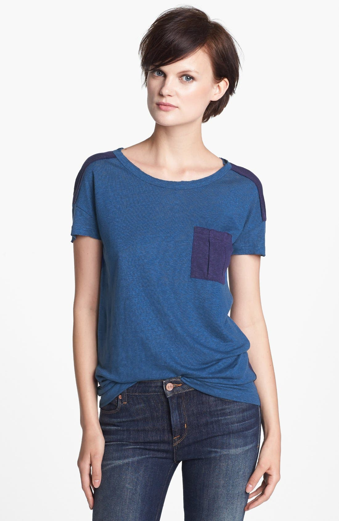 Alternate Image 1 Selected - MARC BY MARC JACOBS 'Kip' Linen Jersey Tee