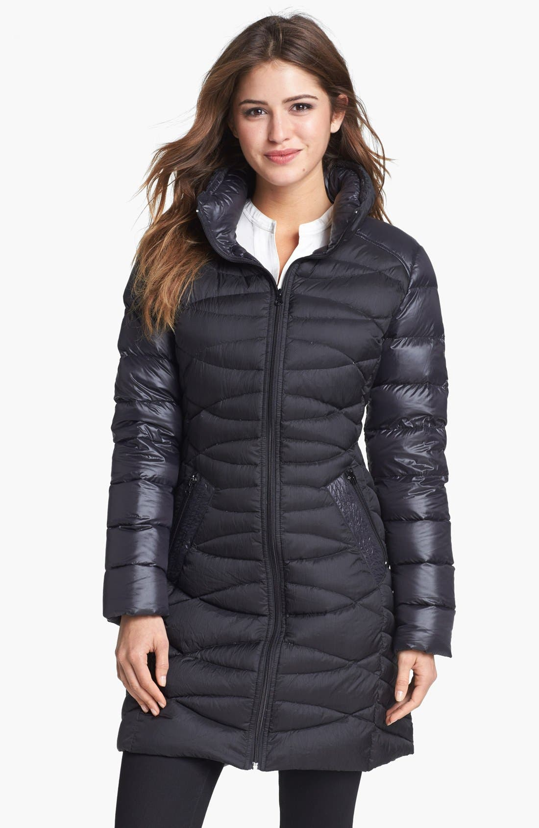 Alternate Image 1 Selected - Bernardo Goose Down Walking Coat (Nordstrom Exclusive)