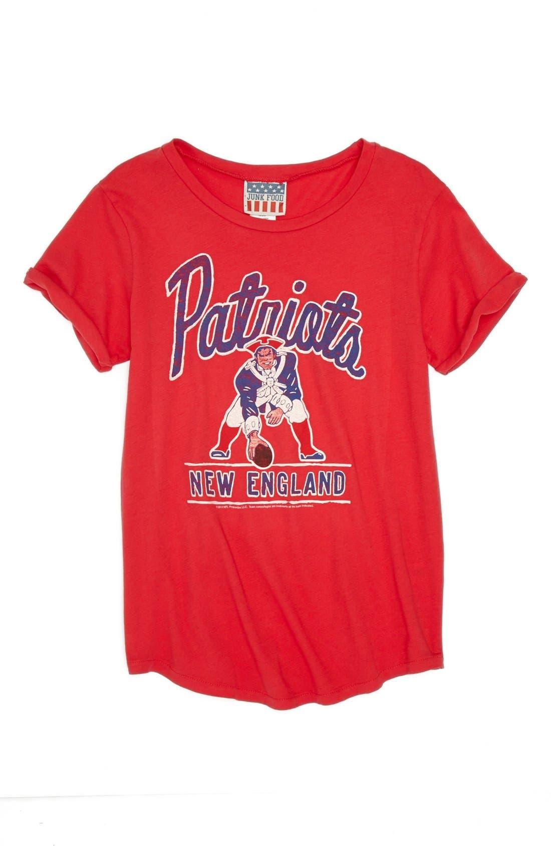 Alternate Image 1 Selected - Junk Food 'NFL - New England Patriots' Tee (Big Girls)