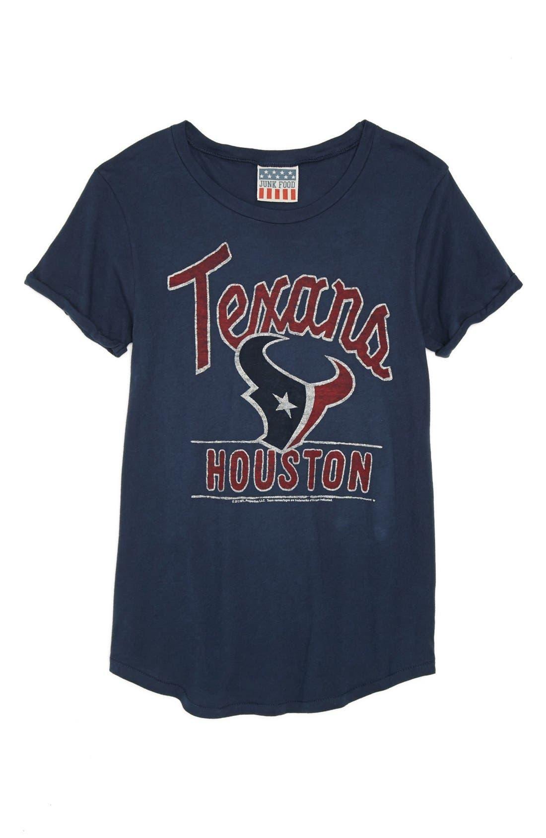 Alternate Image 1 Selected - Junk Food 'NFL - Houston Texans' Tee (Big Girls)