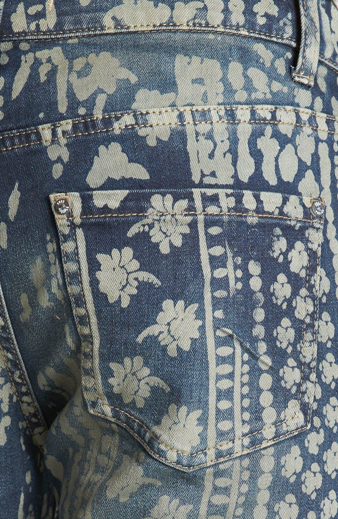 Alternate Image 3  - Free People 'Bali' Print Flare Leg Jeans (Indigo Combo)