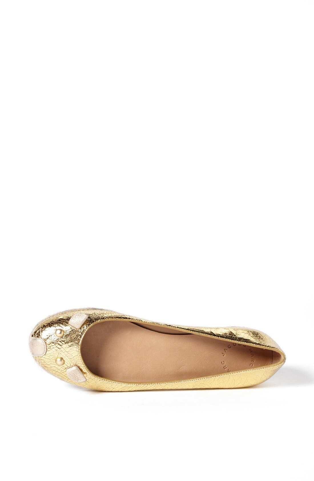 Alternate Image 3  - MARC BY MARC JACOBS 'Mouse' Metallic Calfskin Leather Espadrille Flat