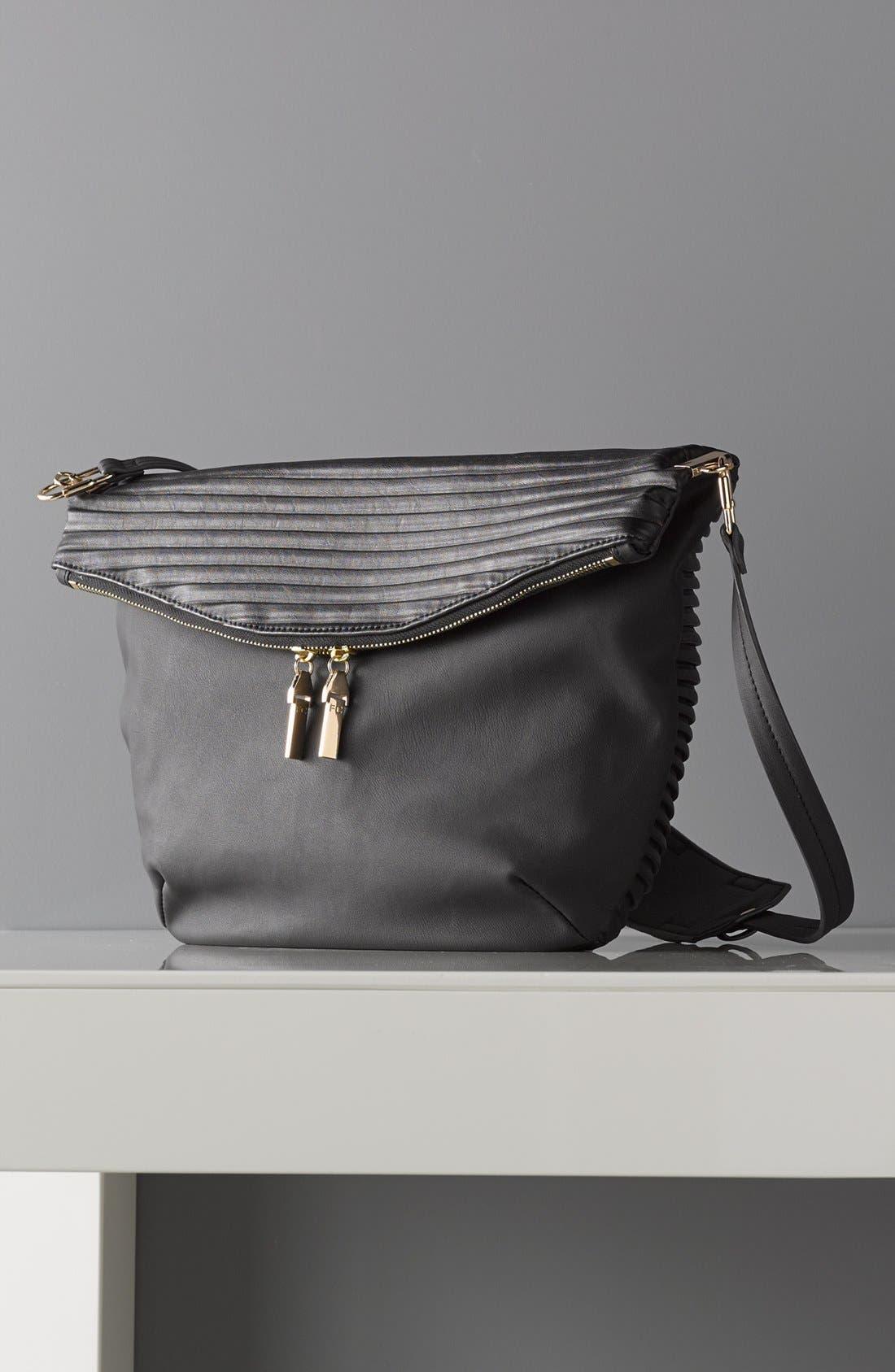 Alternate Image 5  - French Connection Faux Leather Shoulder Bag