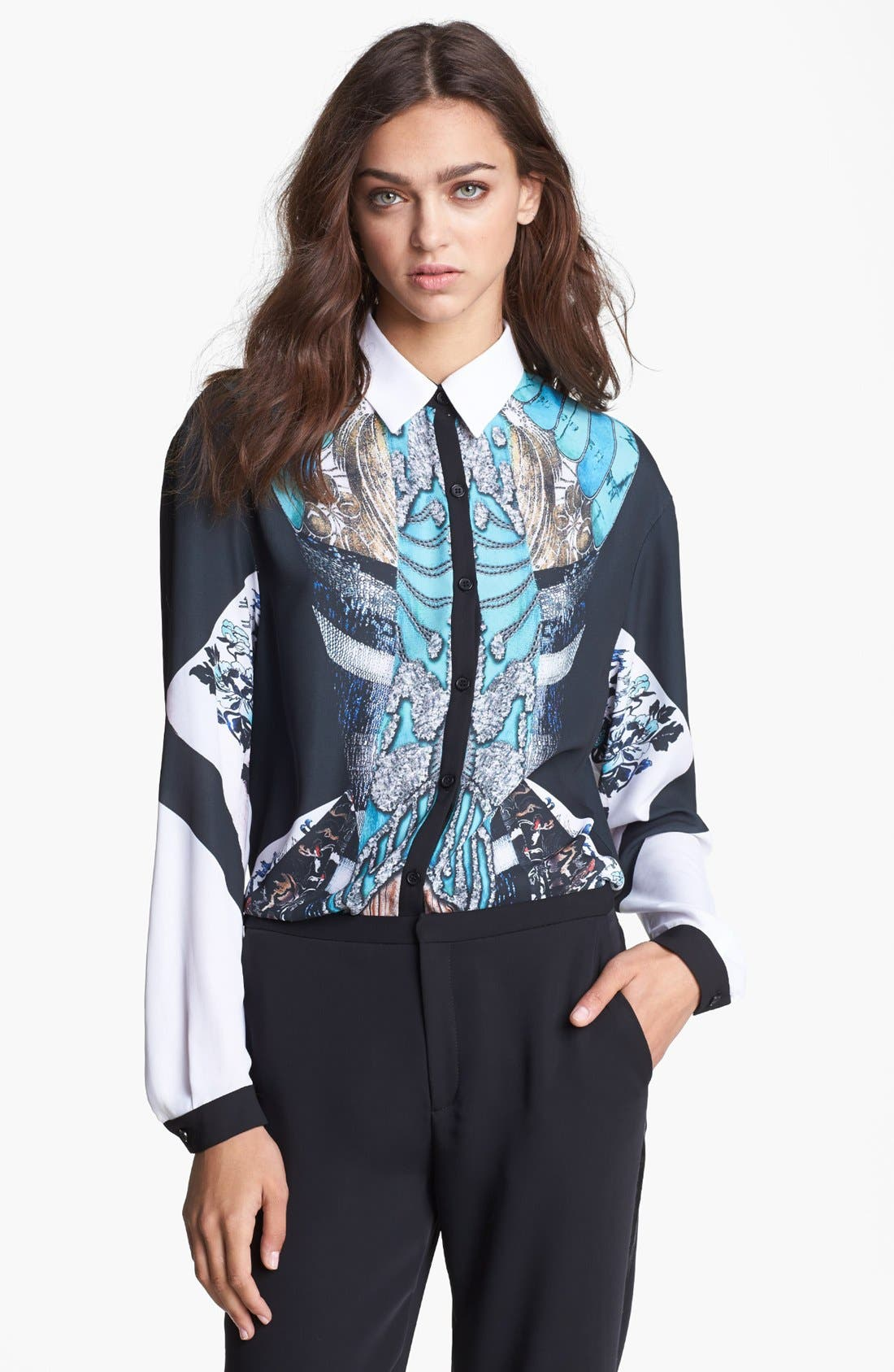 Alternate Image 1 Selected - Clover Canyon 'All That Jazz' Print Blouse