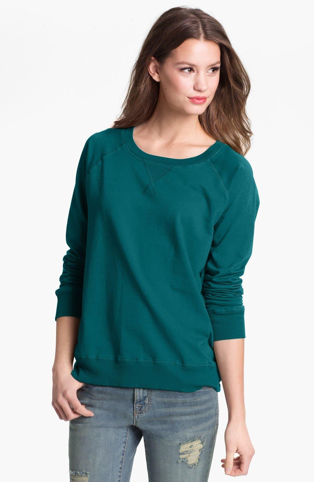 Alternate Image 1 Selected - Allen Allen Raglan Sleeve Sweatshirt
