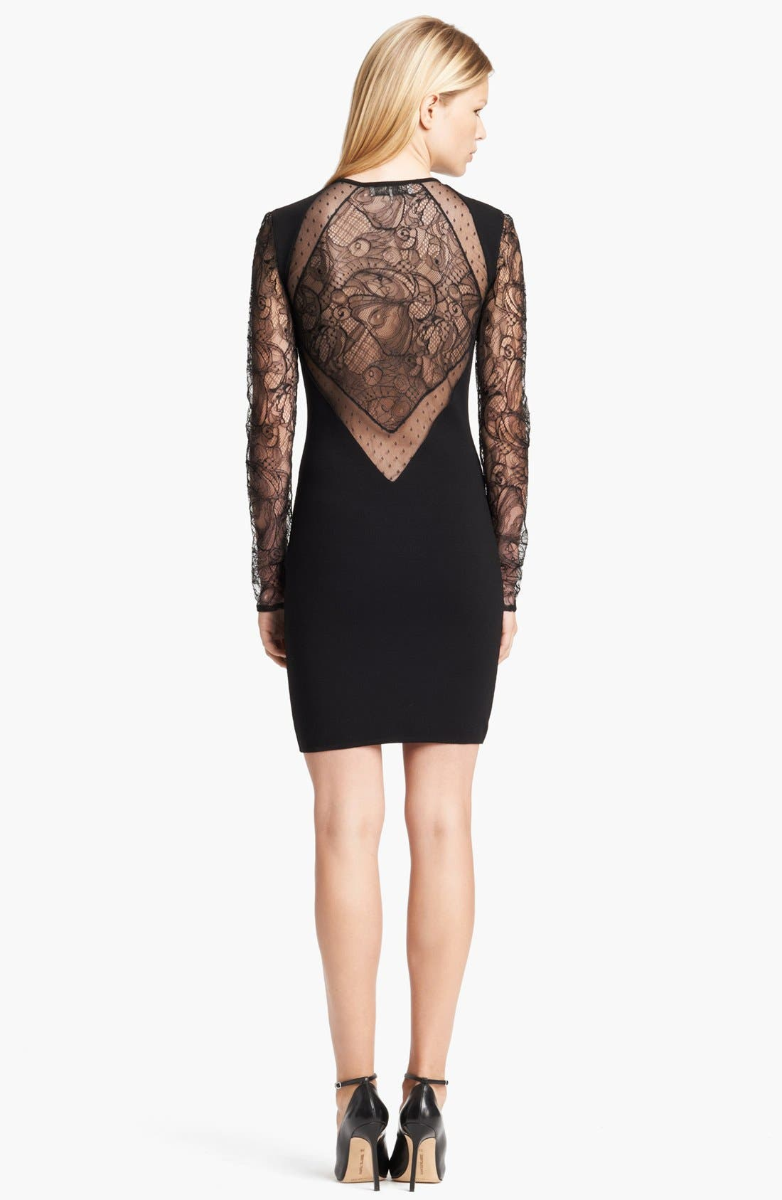 Alternate Image 2  - Emilio Pucci Lace Sleeve Dress
