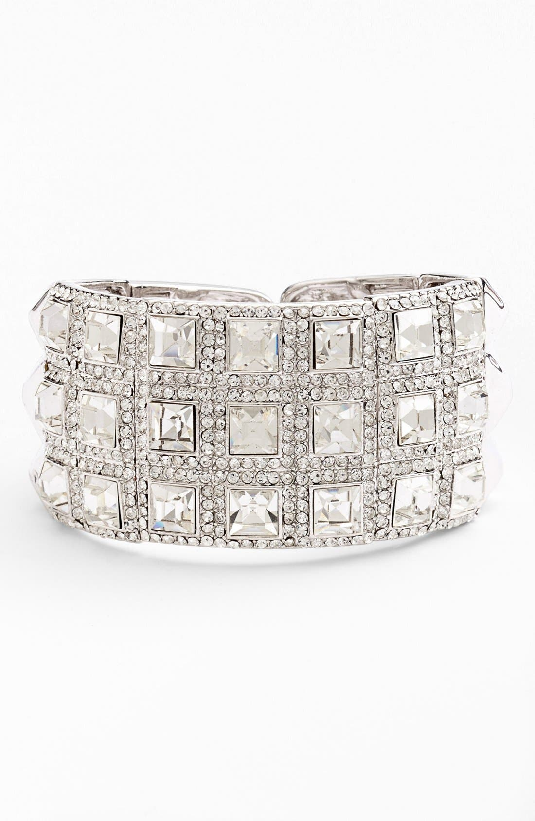 Alternate Image 1 Selected - Cara Wide Pavé Hinged Cuff