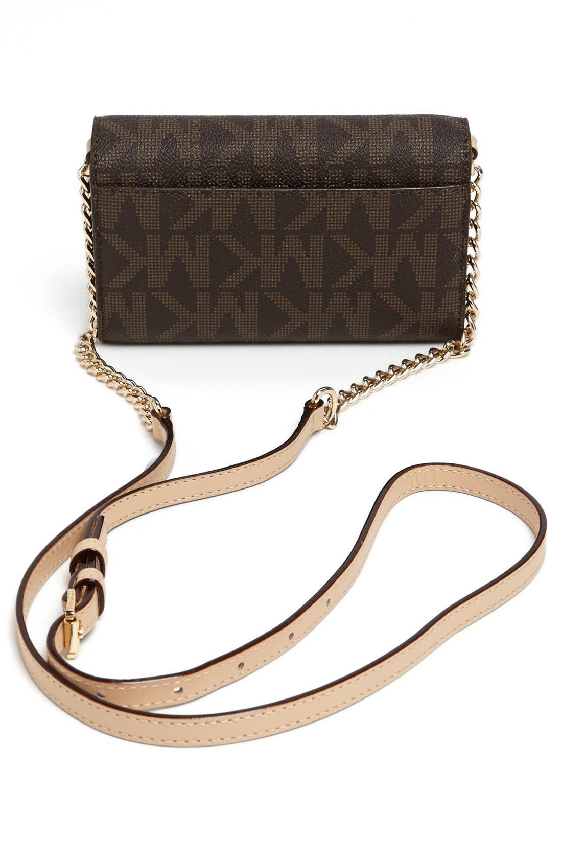 Alternate Image 4  - MICHAEL Michael Kors 'Signature - Saffiano' Crossbody Phone Bag