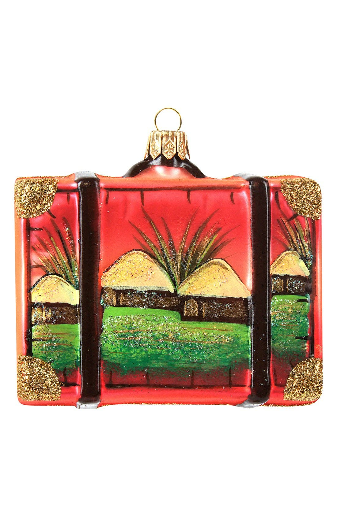Alternate Image 2  - Nordstrom at Home 'Africa' Suitcase Ornament