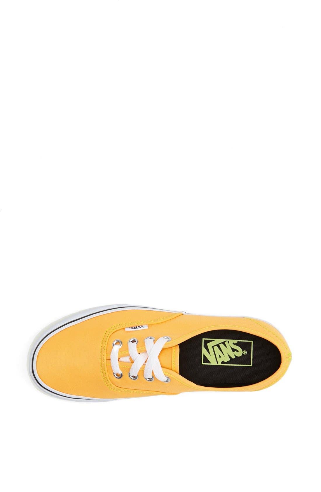 Alternate Image 3  - Vans 'Authentic' Neon Sneaker (Women)