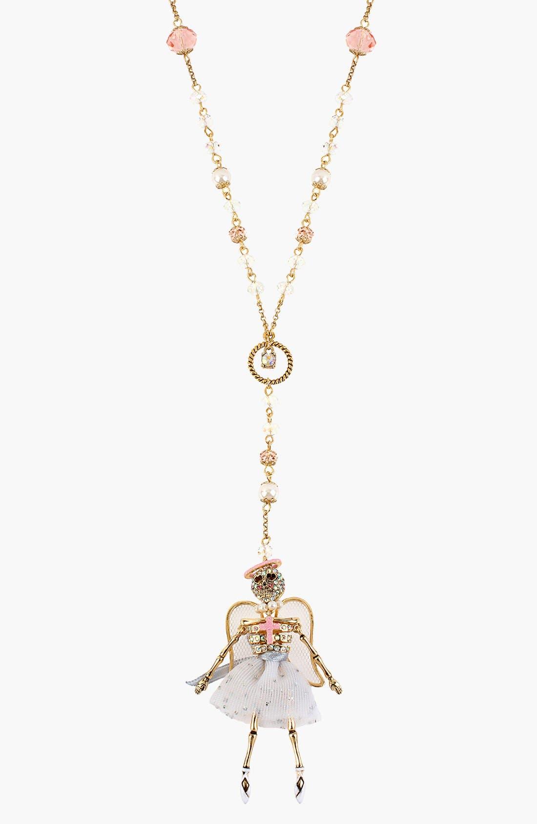 Main Image - Betsey Johnson 'Angel & Devil' Pendant Necklace
