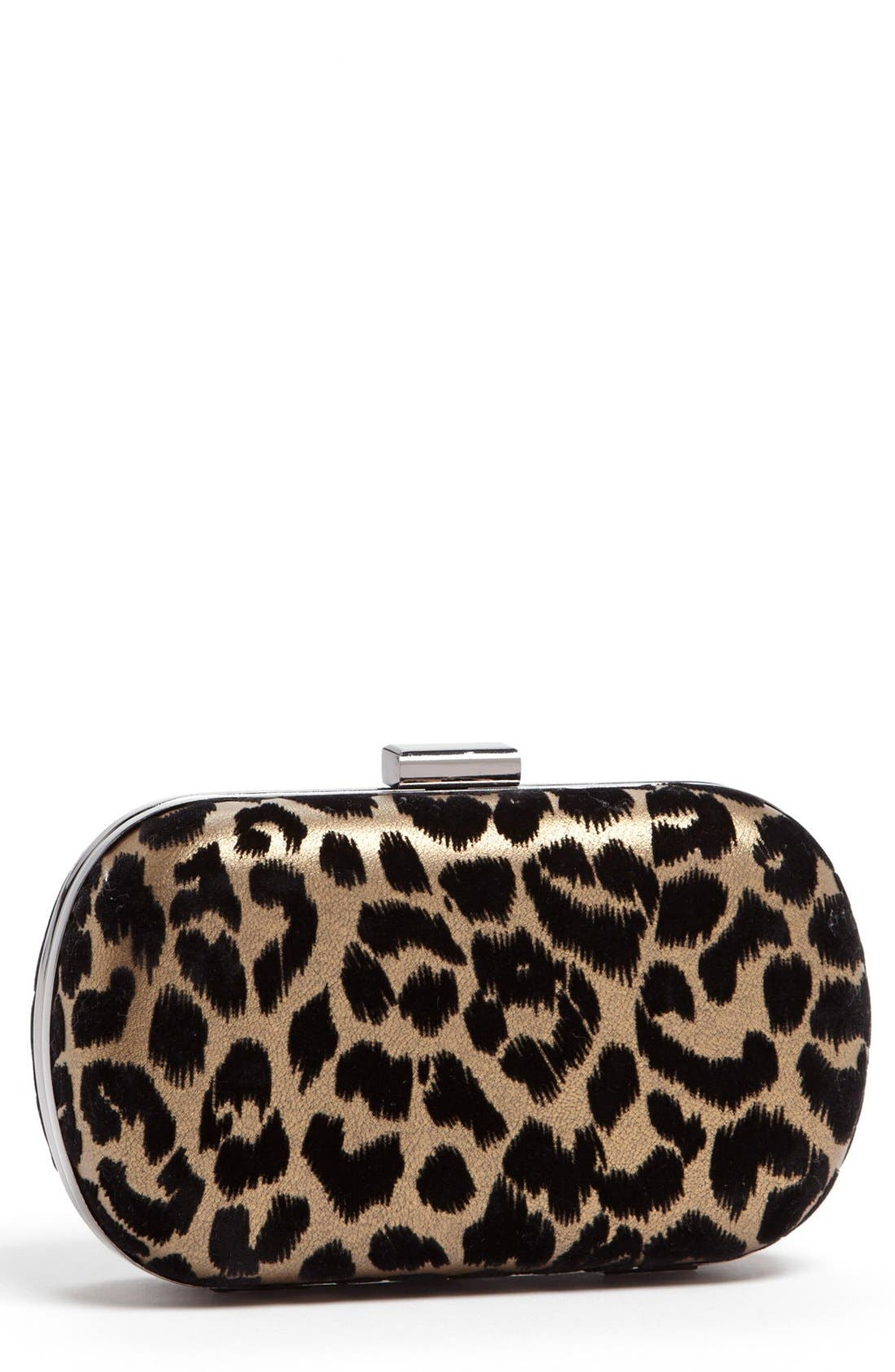 Alternate Image 1 Selected - Menbur Leopard Print Minaudière