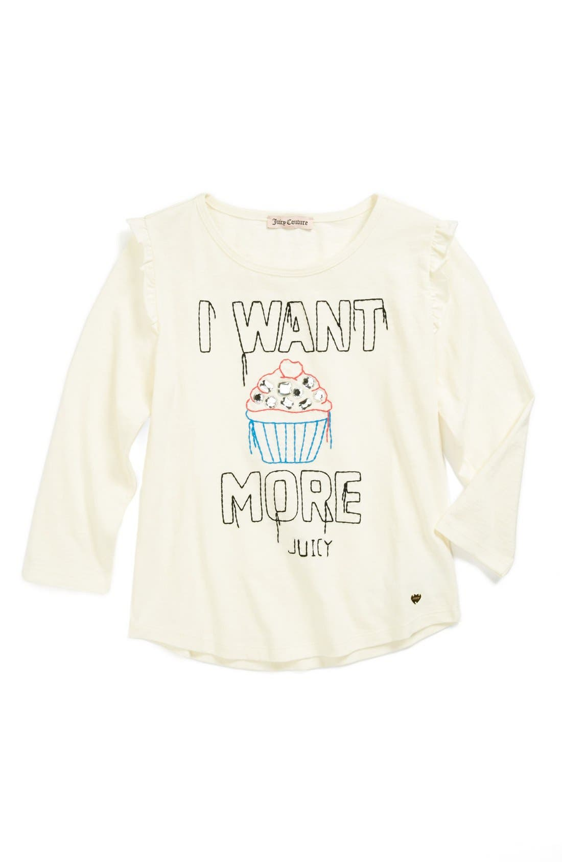 Alternate Image 1 Selected - Juicy Couture 'I Want More' Tee (Little Girls & Big Girls)