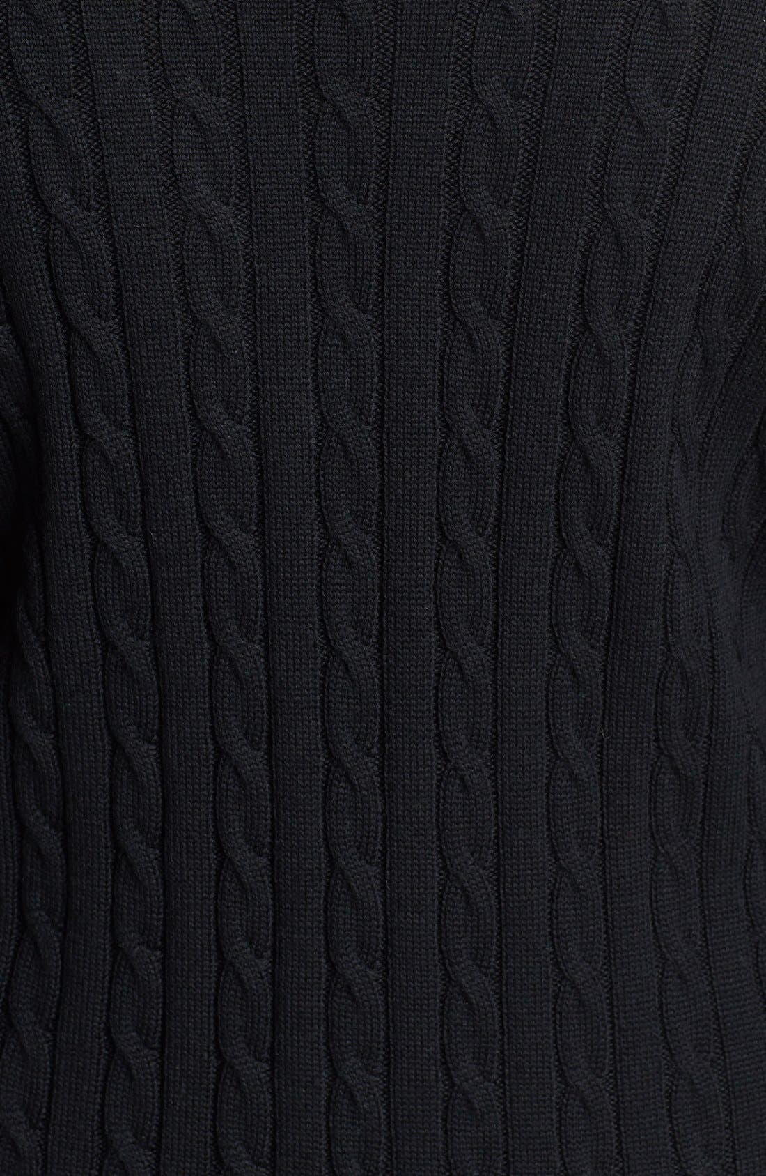Alternate Image 3  - Calvin Klein Faux Wrap Sweater Dress (Plus Size)