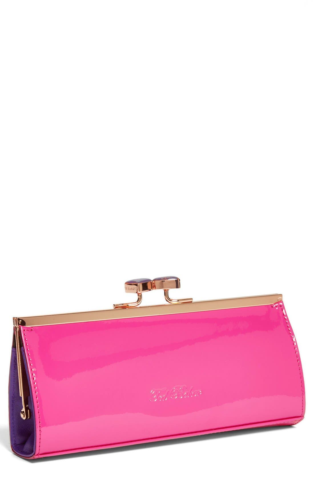 Alternate Image 1 Selected - Ted Baker London Enamel Bow Clutch