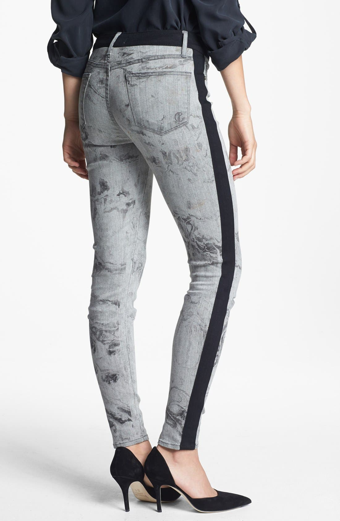 Alternate Image 2  - CJ by Cookie Johnson Track Stripe Print Skinny Pants