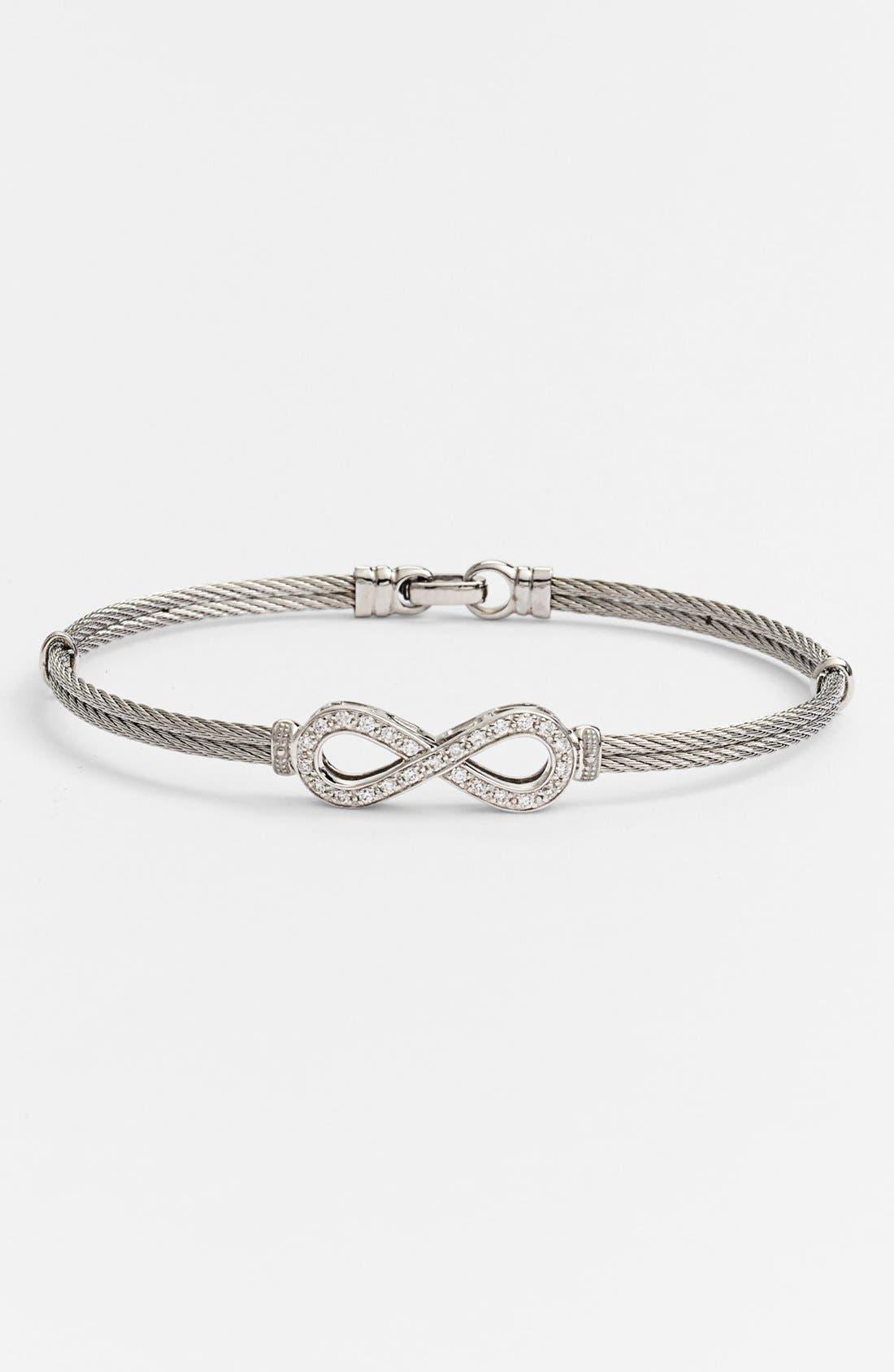 Alternate Image 1 Selected - ALOR® Infinity Symbol Station Bracelet