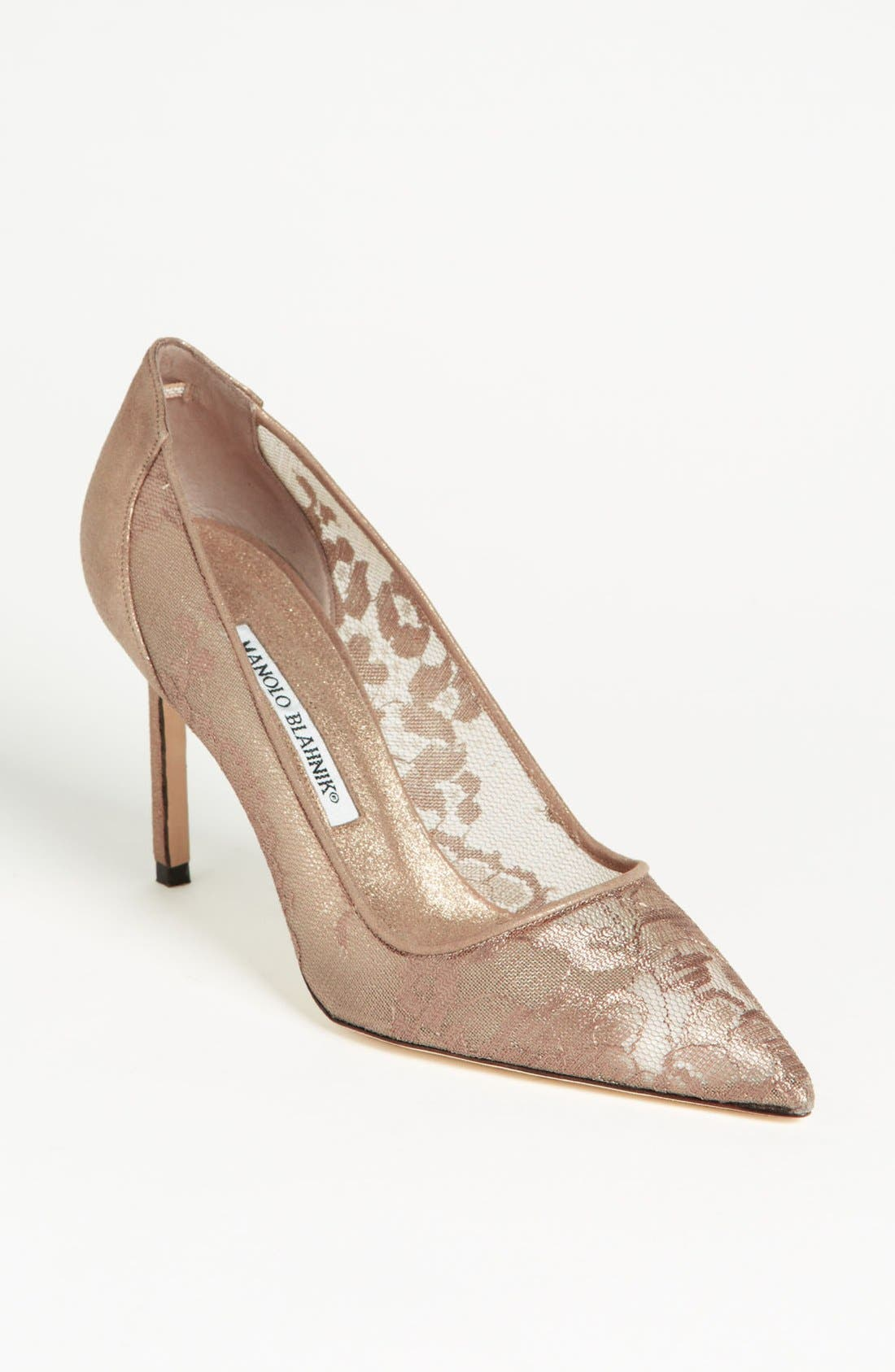 Alternate Image 1 Selected - Manolo Blahnik Lace Pump