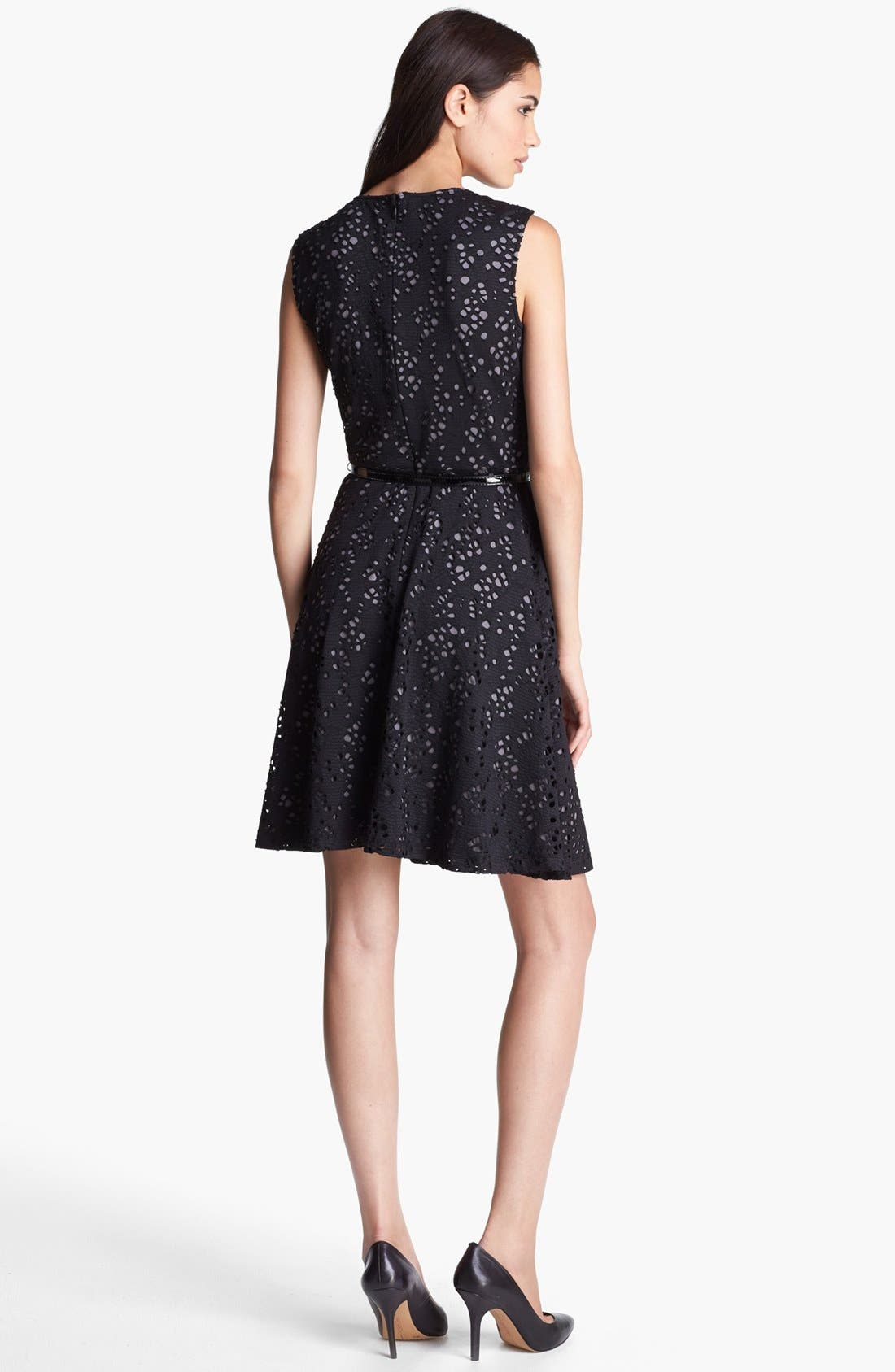 Alternate Image 2  - Marc New York by Andrew Marc Lace Fit & Flare Dress