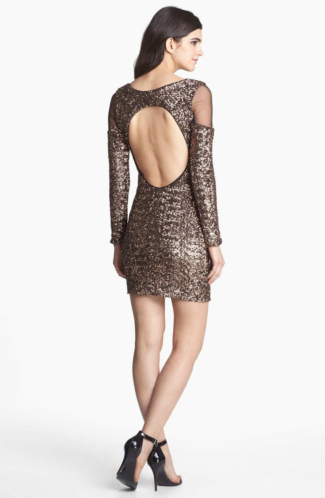 Alternate Image 2  - Dress the Population 'Jaden' Sequin Body-Con Dress