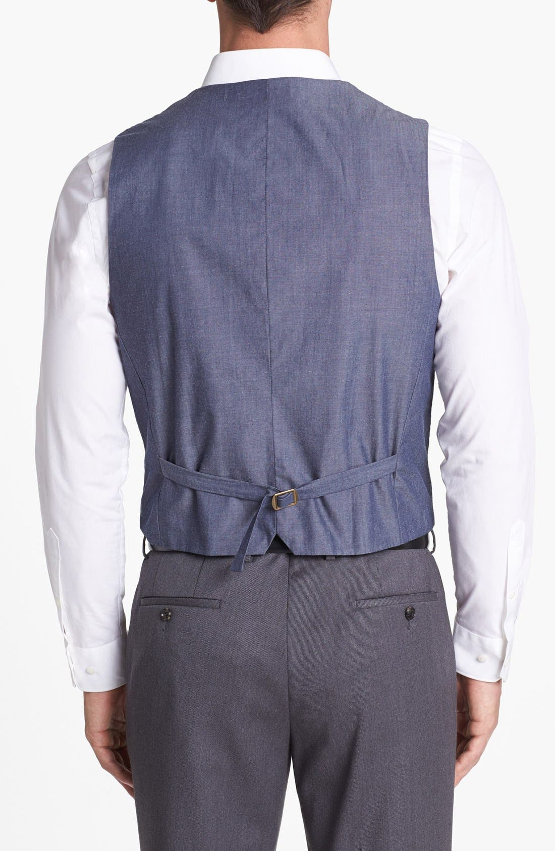 Alternate Image 2  - Wallin & Bros. Herringbone Vest