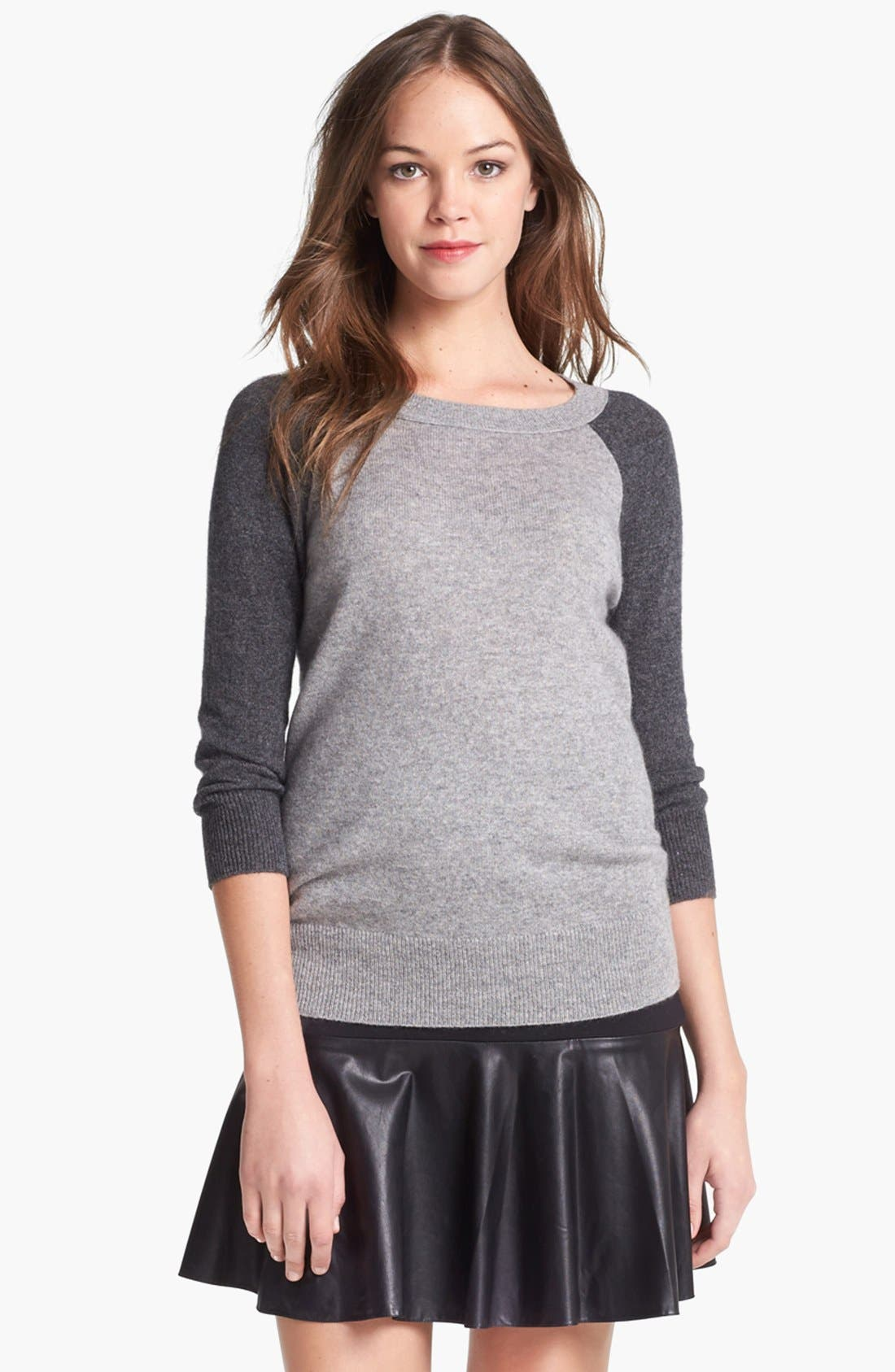 Alternate Image 3  - Halogen® Colorblock Cashmere Sweater