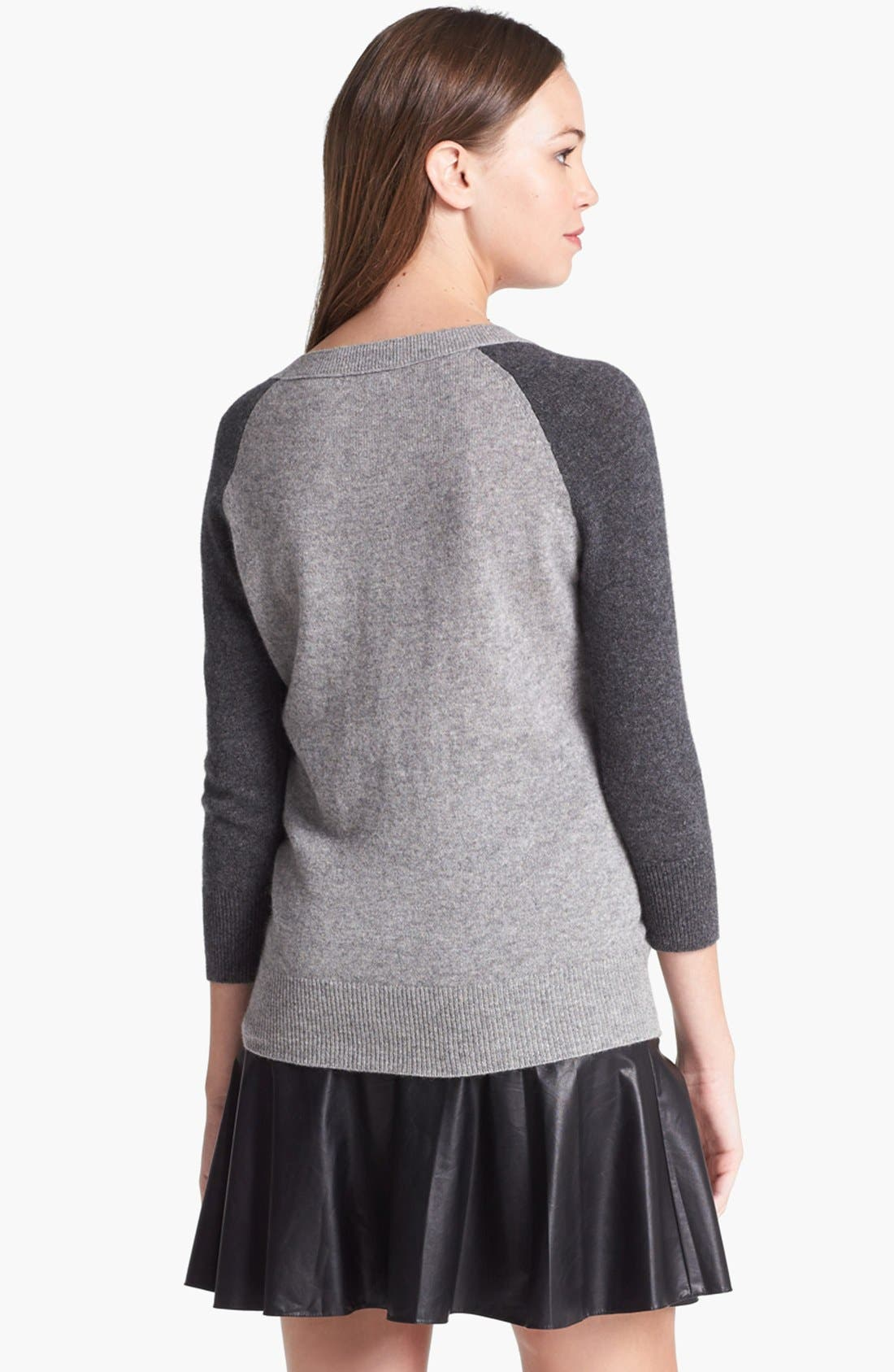 Alternate Image 4  - Halogen® Colorblock Cashmere Sweater