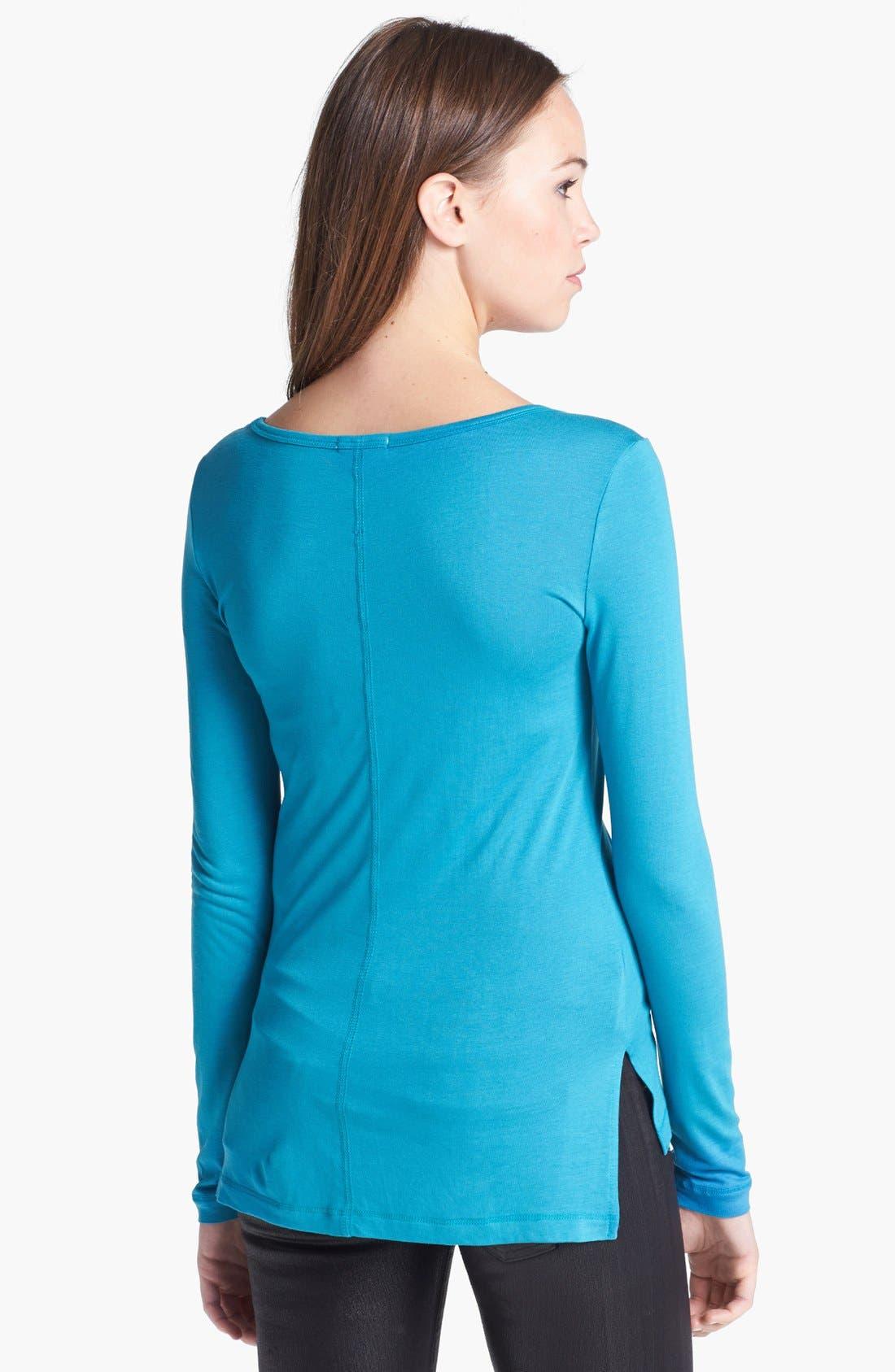Alternate Image 2  - Halogen® Long Sleeve Jersey Tee
