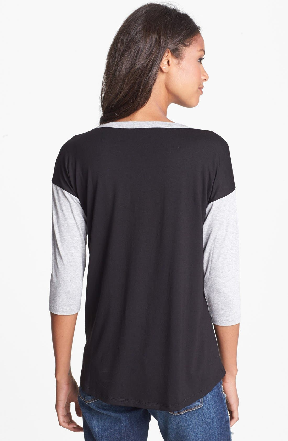 Alternate Image 2  - Bobeau Graphic Dropped Shoulder Tee