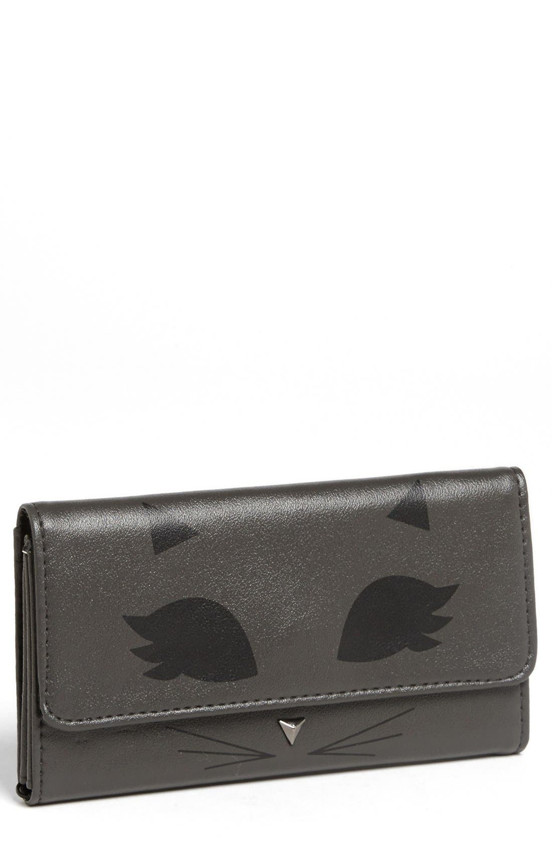 Alternate Image 1 Selected - Lulu 'Cat' Faux Leather Wallet