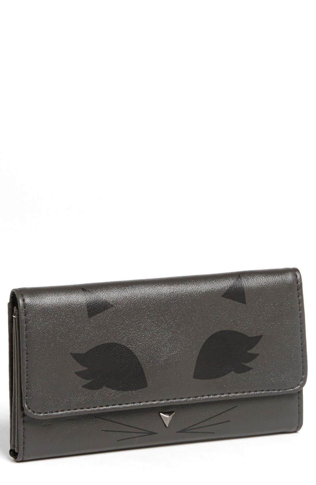 Main Image - Lulu 'Cat' Faux Leather Wallet