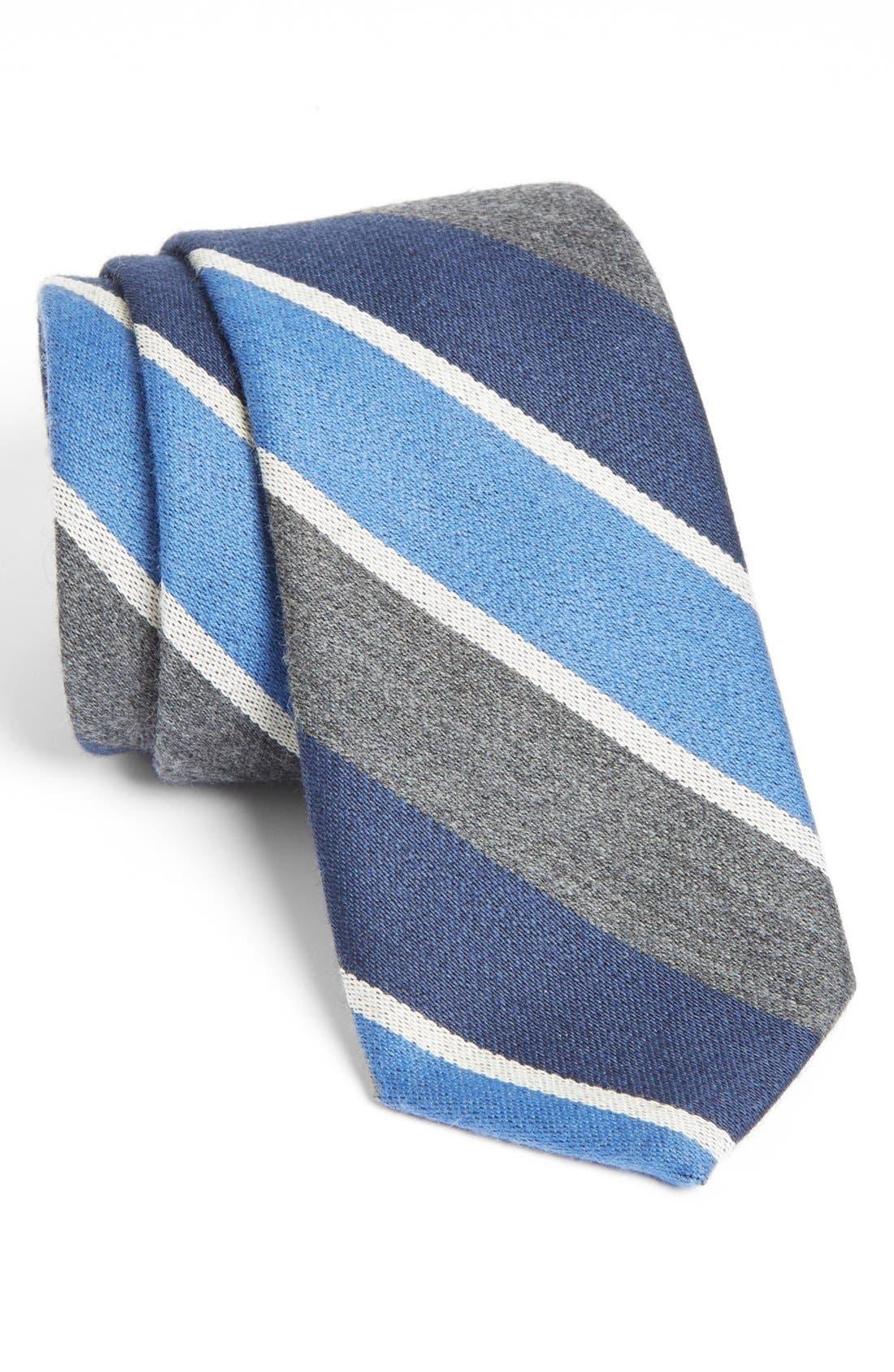 Main Image - Gitman Stripe Woven Wool Tie