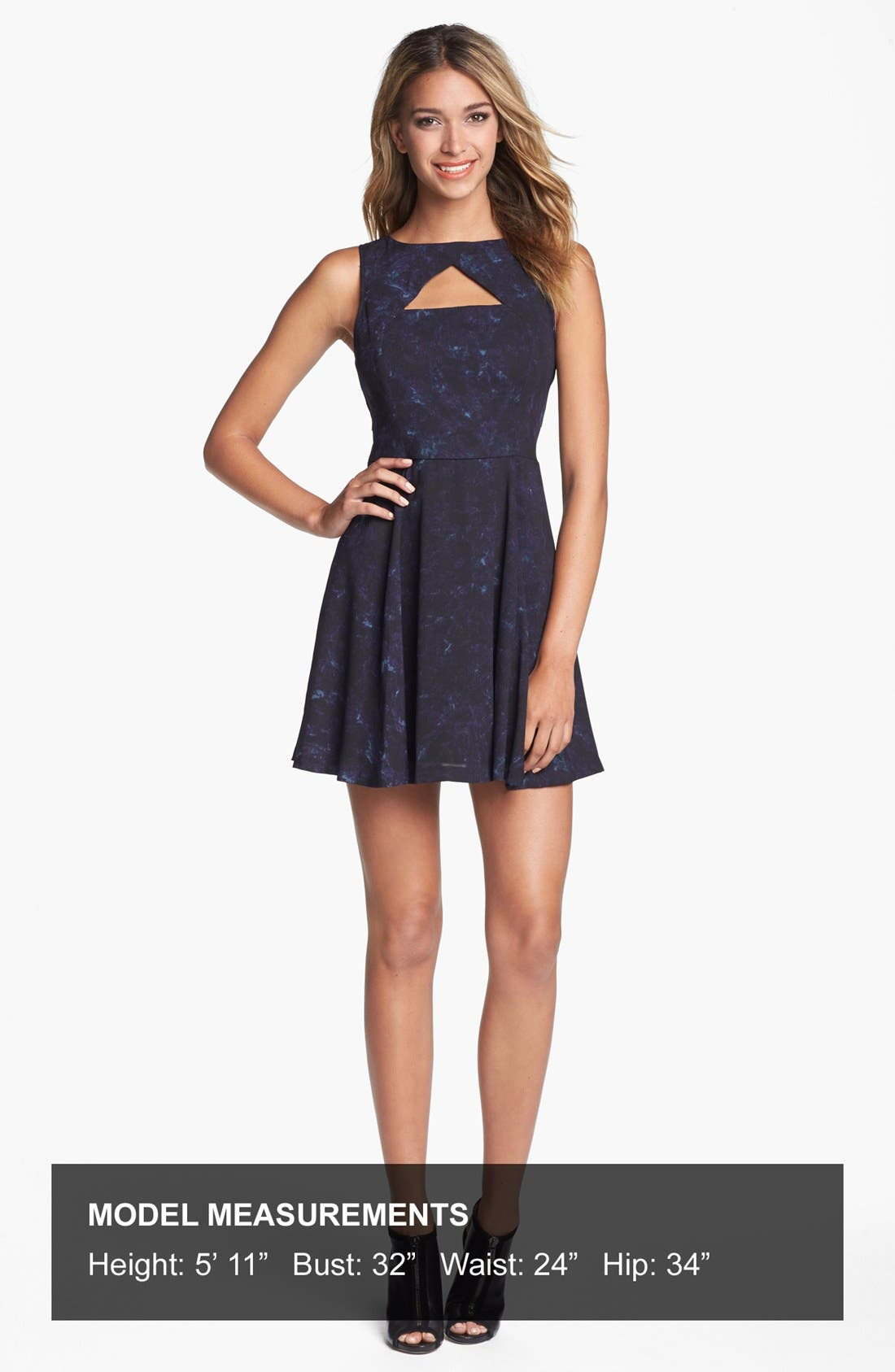 Alternate Image 5  - BB Dakota 'Della' Print Fit & Flare Dress