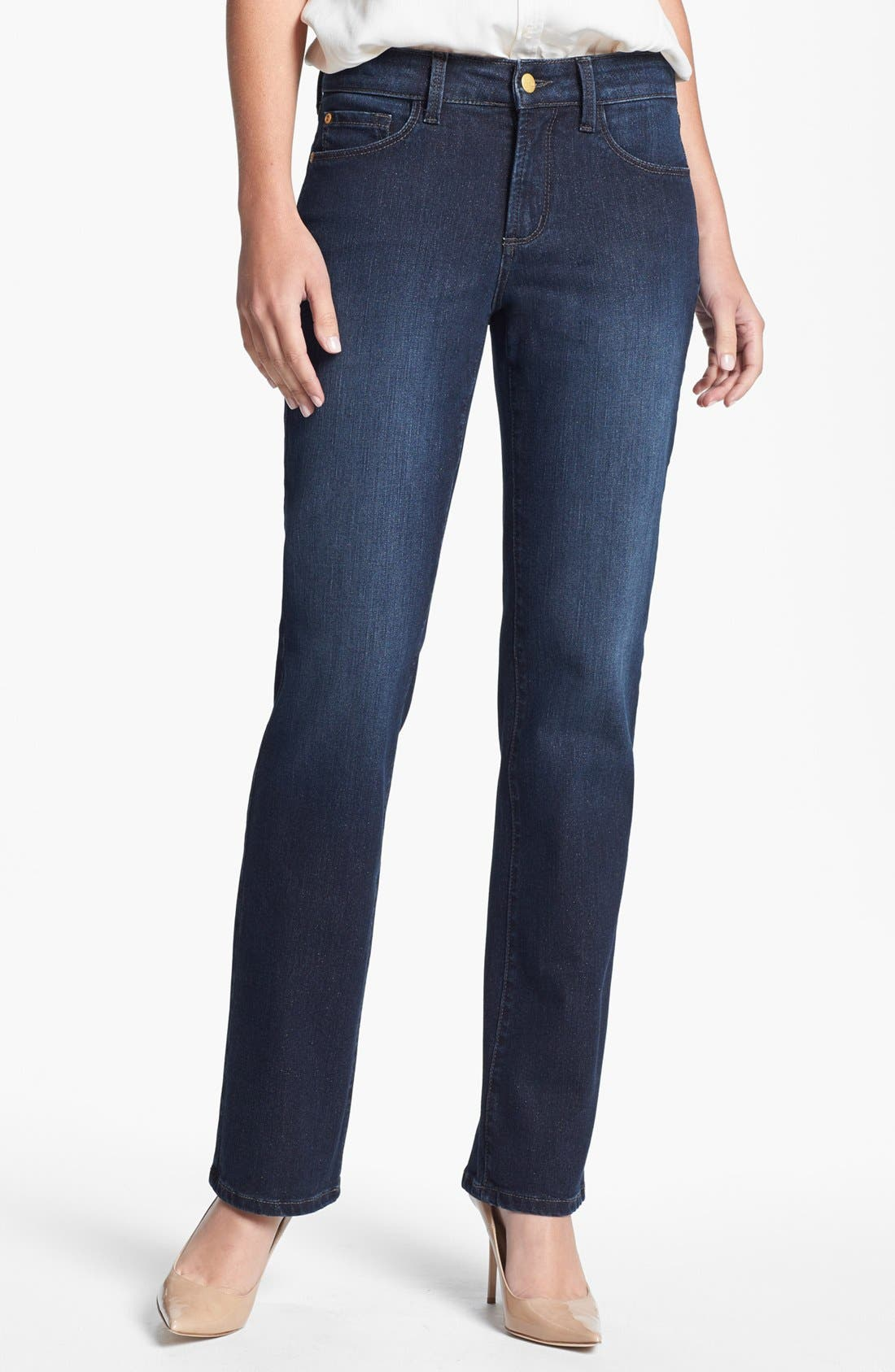 Alternate Image 1 Selected - NYDJ 'Marilyn' Stretch Straight Leg Jeans (Encino)