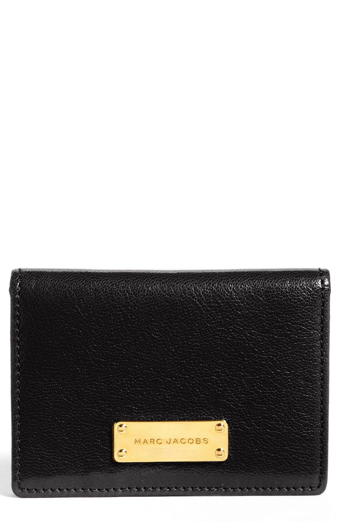 Alternate Image 1 Selected - MARC JACOBS 'Wellington' Leather Card Case