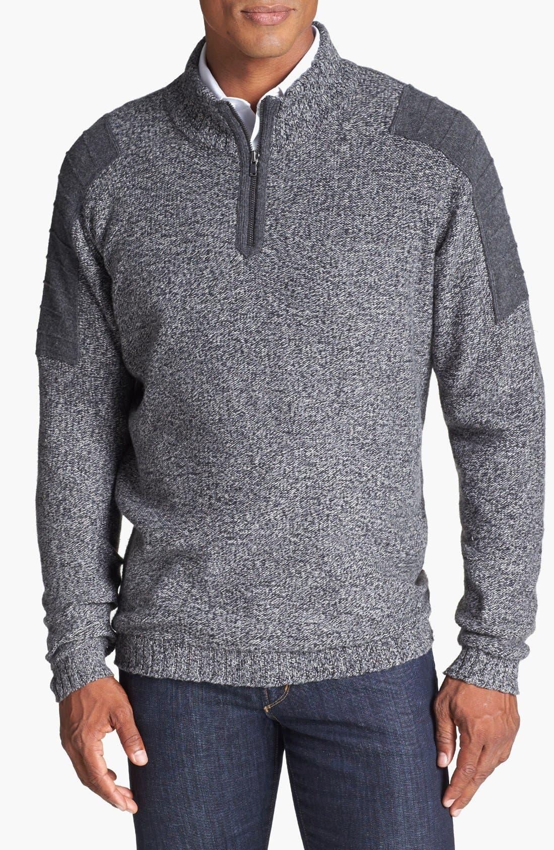 Alternate Image 1 Selected - Cutter & Buck 'Cabot' Half Zip Sweater