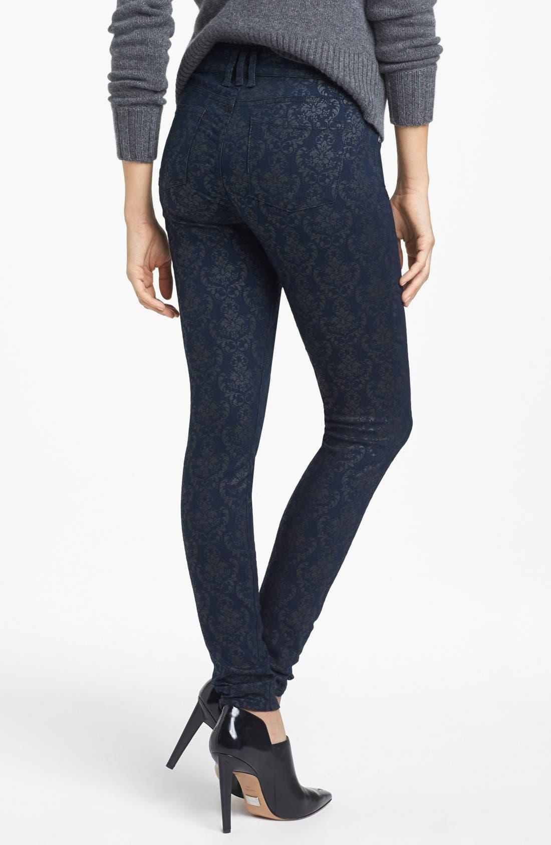 Alternate Image 2  - KUT from the Kloth 'Mia' Print Skinny Jeans (Indigo)