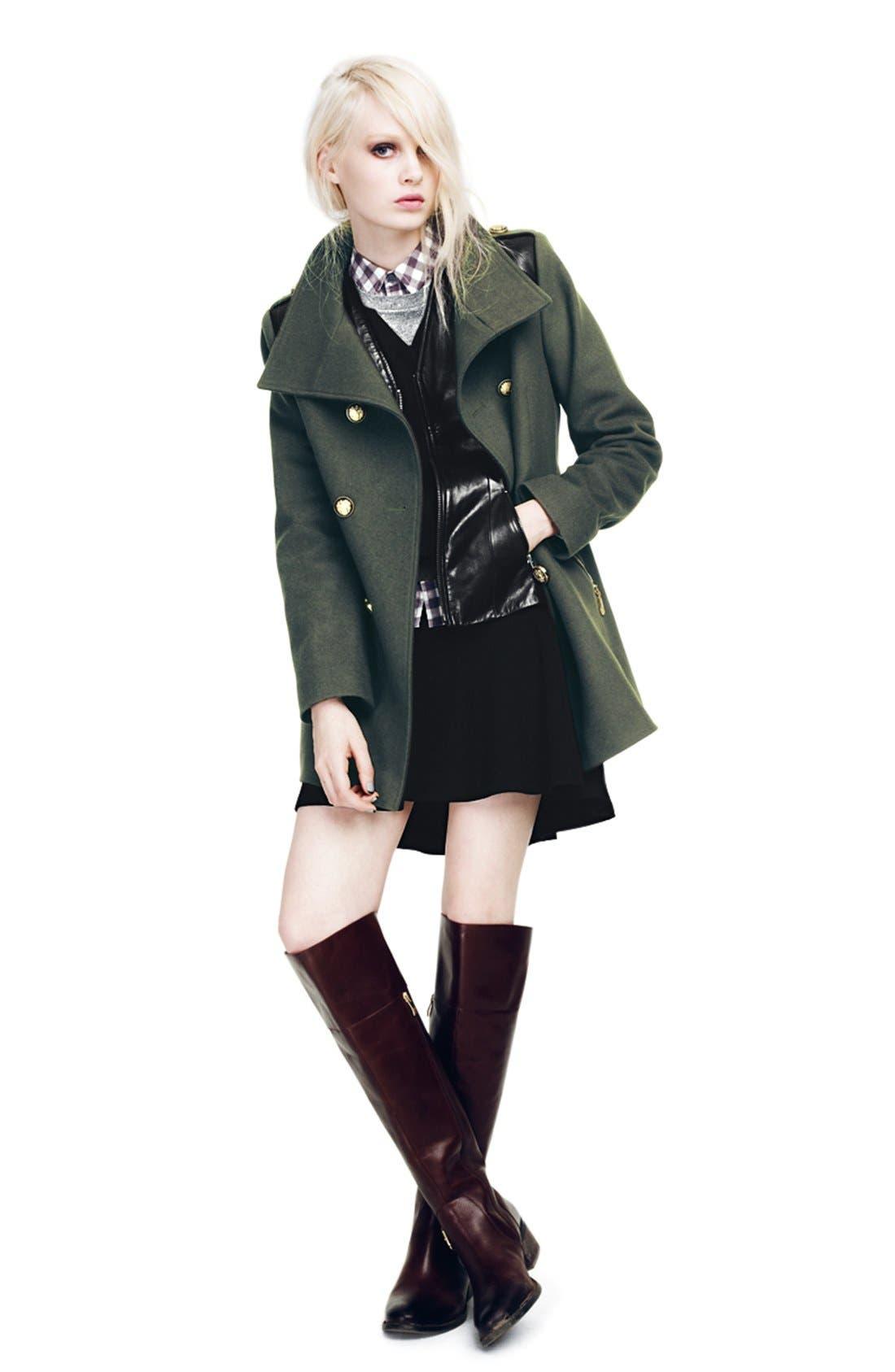 Alternate Image 8  - Trouvé Power Shoulder Leather Jacket