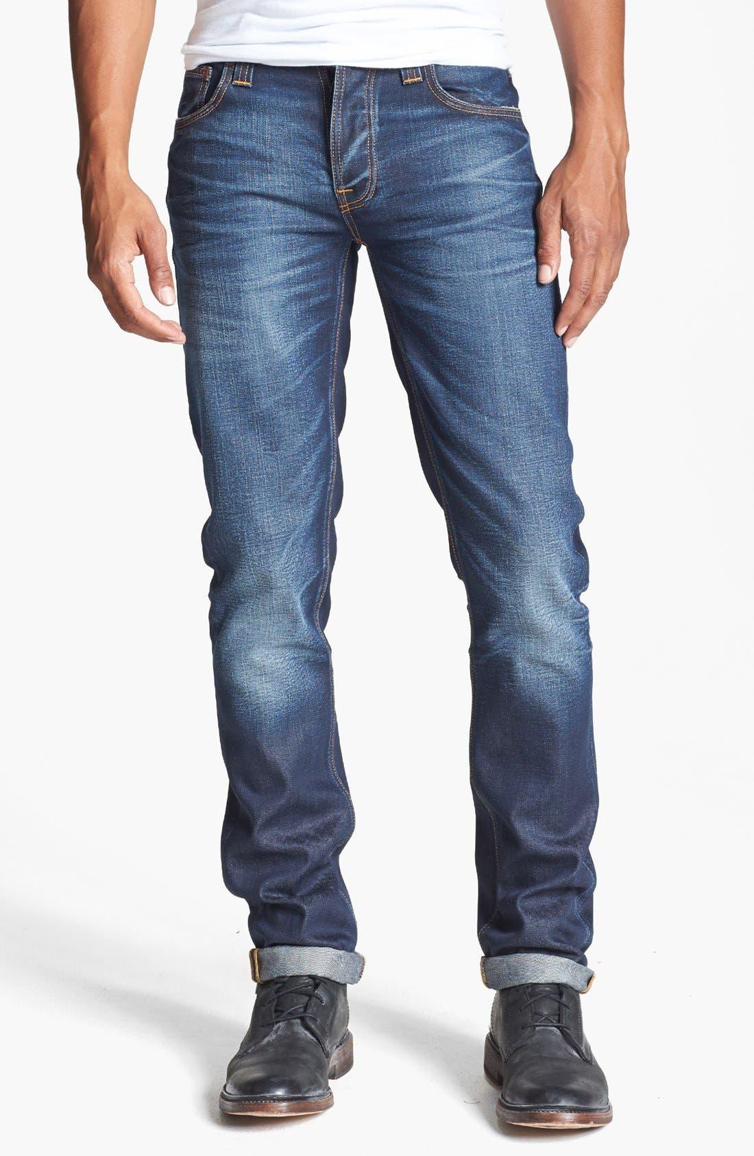 Alternate Image 2  - Nudie Jeans 'Grim Tim' Skinny Fit Jeans (Organic Steely Blue)