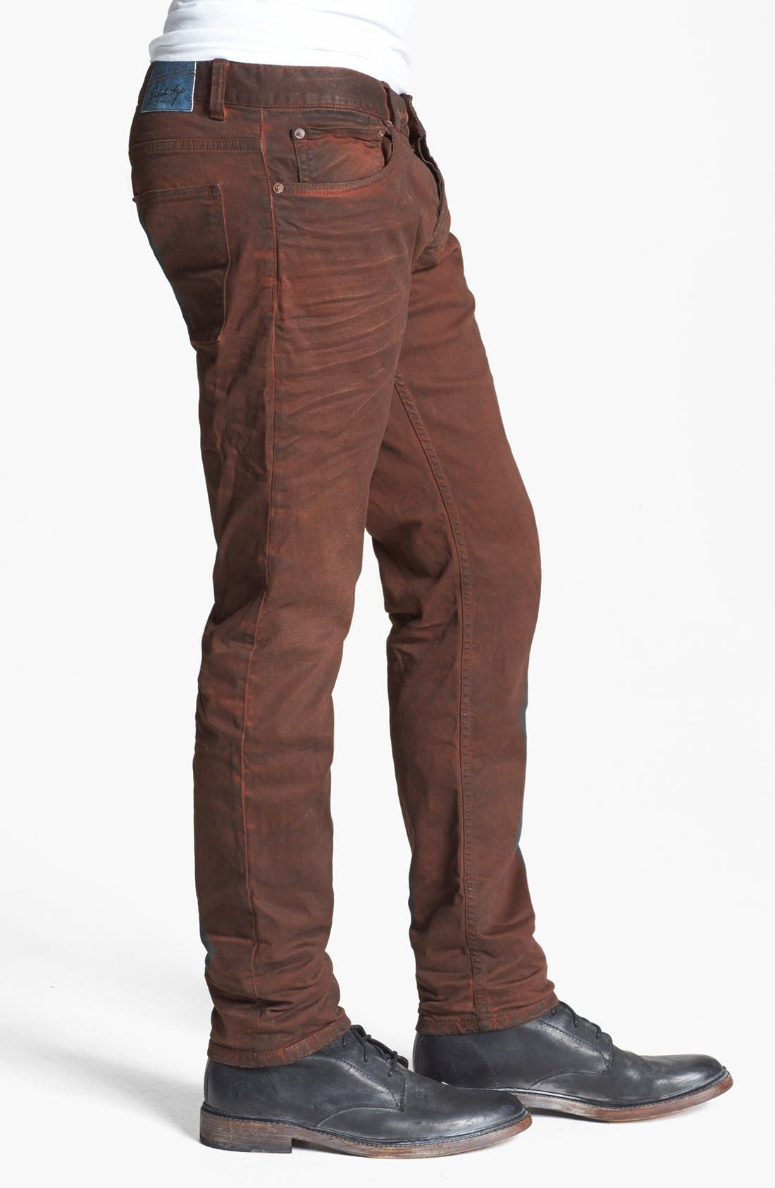 Alternate Image 3  - Gilded Age 'Morrison' Coated Skinny Fit Jeans (Faded Brick)