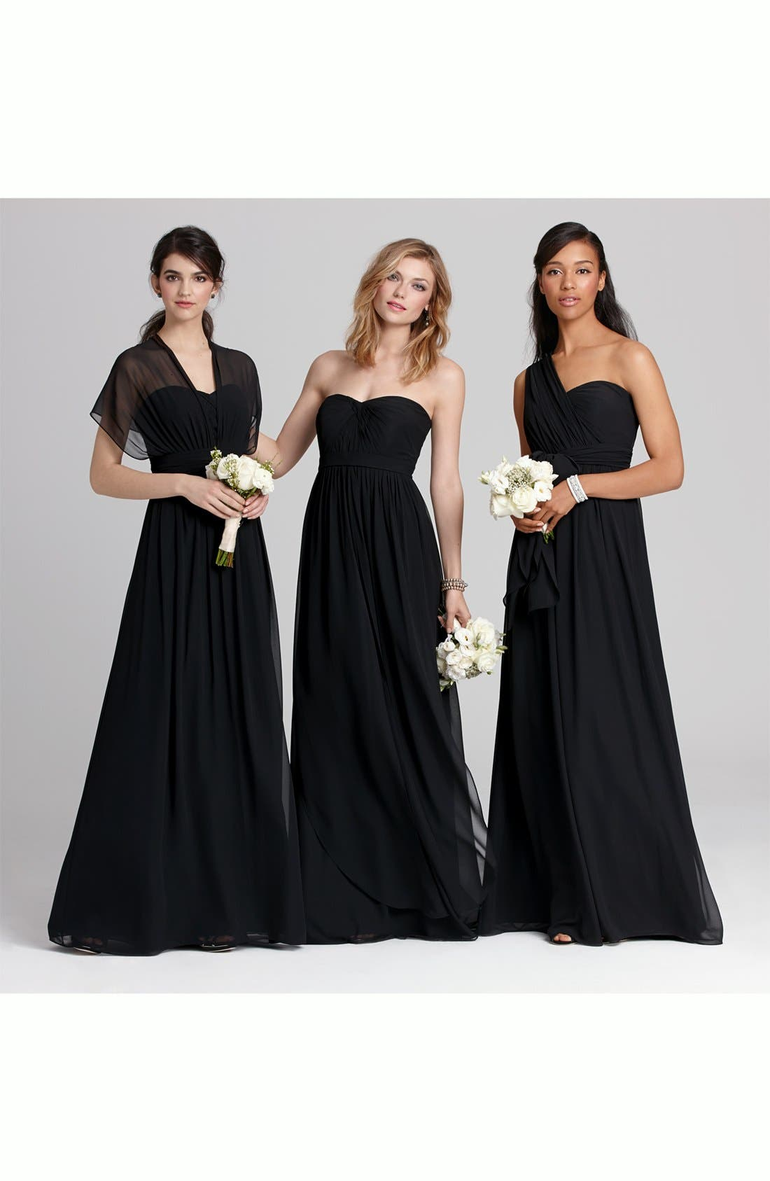 Alternate Image 6  - Amsale One-Shoulder Silk Gown