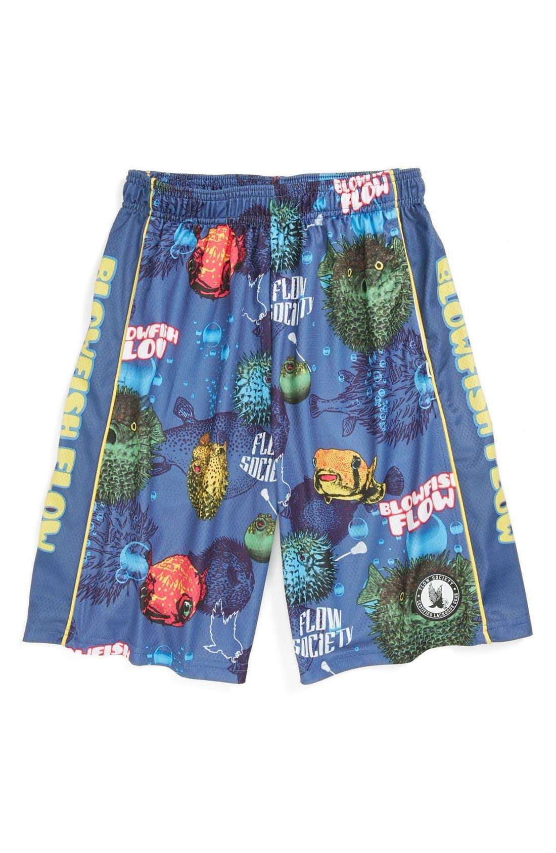 Main Image - Flow Society 'Blowfish' Lacrosse Shorts (Little Boys & Big Boys)