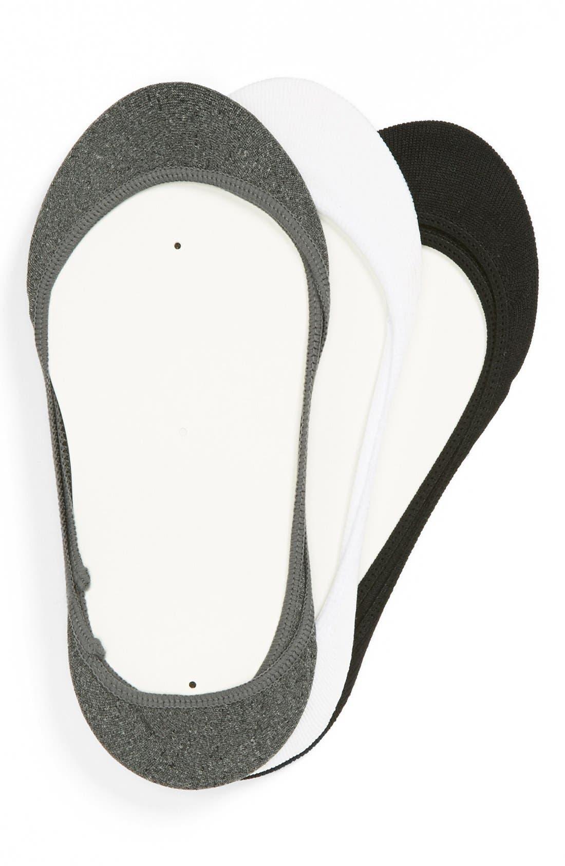 Alternate Image 1 Selected - BP. Footie Socks (3-Pack) (Juniors)