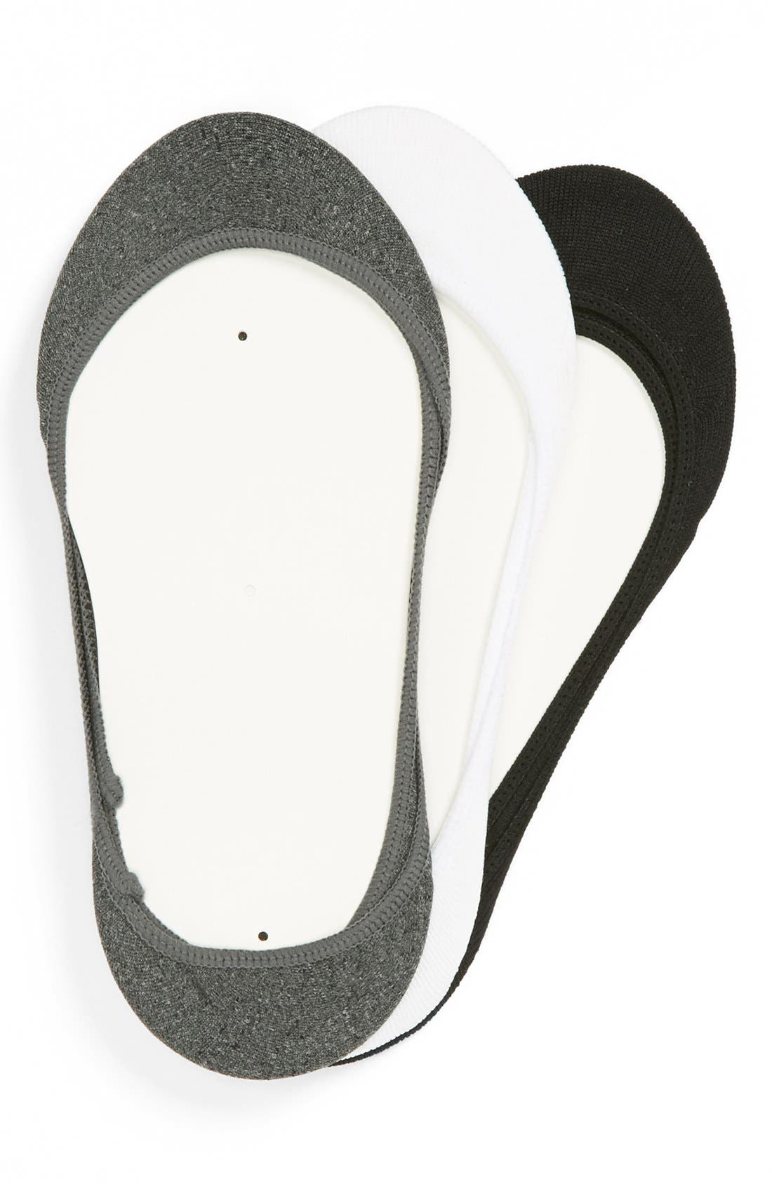 Main Image - BP. Footie Socks (3-Pack) (Juniors)