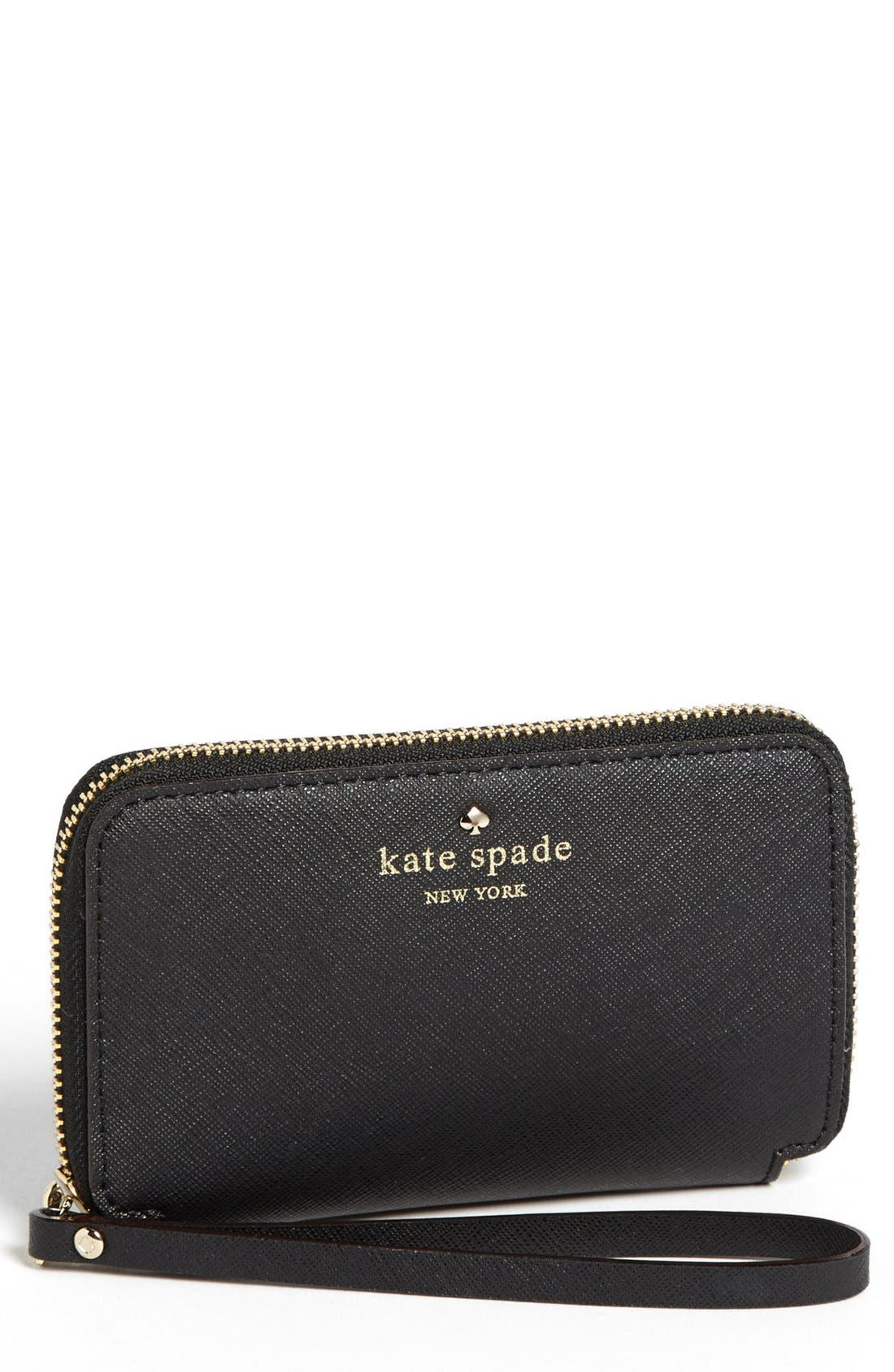Main Image - kate spade new york 'cherry lane - louie' saffiano leather phone wallet