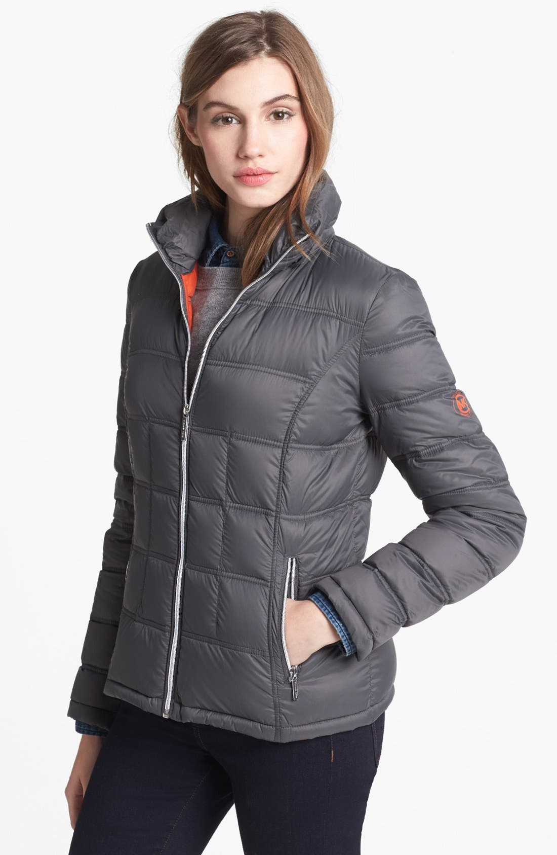 Alternate Image 3  - MICHAEL Michael Kors Packable Down Jacket with Detachable Hood (Petite) (Online Only)