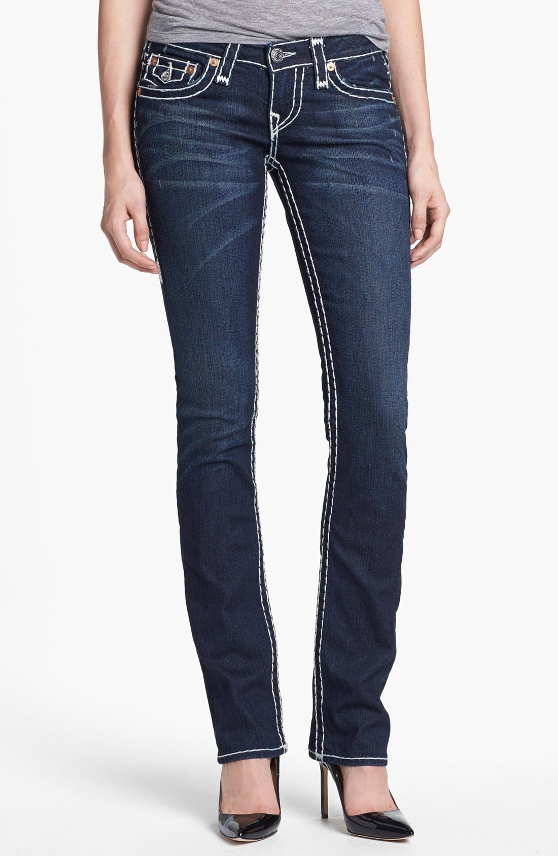 Alternate Image 1 Selected - True Religion Brand Jeans 'Billy - Super T' Straight Leg Jeans (Rollingwood)