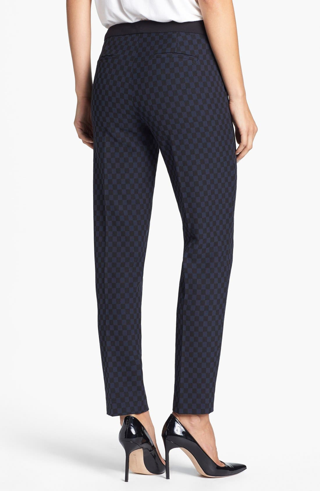 Alternate Image 2  - Halogen® 'Quinn' Jacquard Skinny Ankle Pants