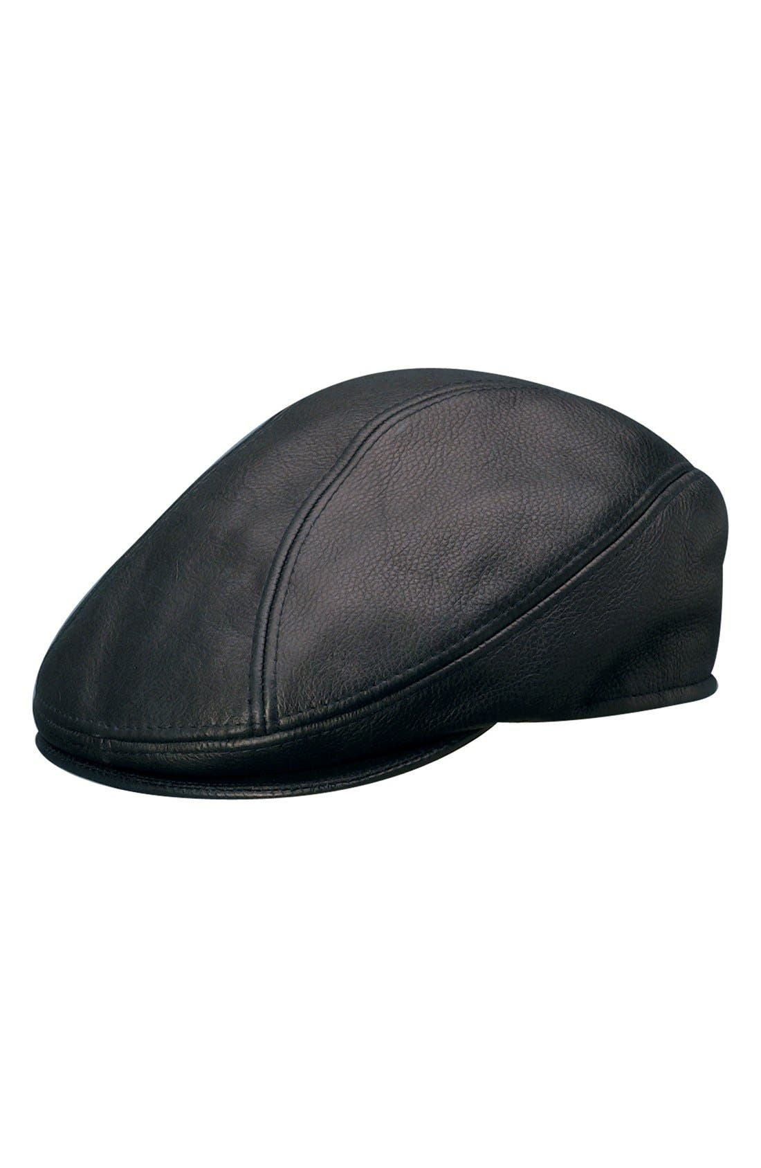 Main Image - Stetson Leather Driving Cap