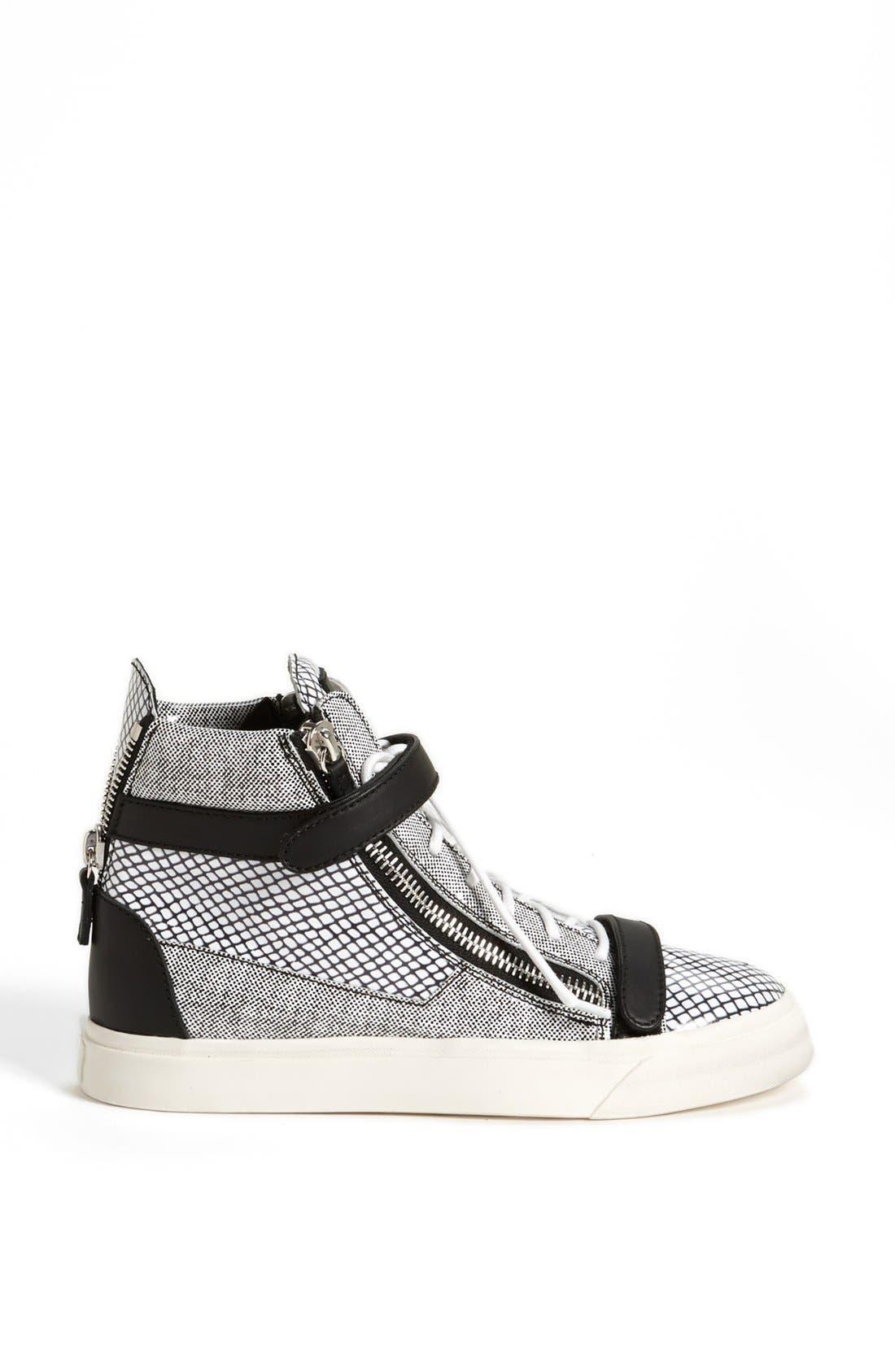 Alternate Image 4  - Giuseppe Zanotti High Top Sneaker